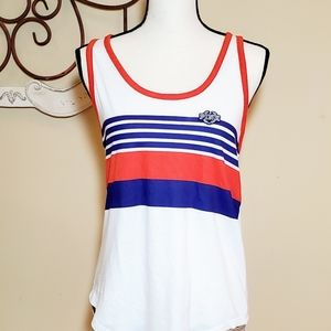 PINK Red White and Blue Tank Top